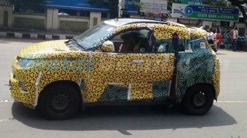 Mahindra S101 (XUV100) side profile snapped - Spied