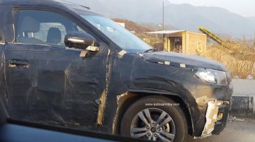 Maruti YBA sub-4m SUV snapped up close - Spied