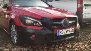 2016 Mercedes CLA (facelift) caught up close - Spied