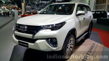 India-bound 2016 Toyota Fortuner showcased at Thailand Motor Expo - In Images