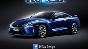 2017 Nissan GT-R (facelift) front and rear - Rendering