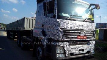 BharatBenz 6x4 truck rigid haulage truck caught testing - Spied
