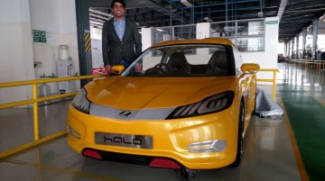 Mahindra Halo with Yellow exterior color snapped - Spied