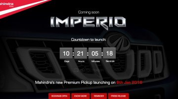 Mahindra Imperio to launch on January 6, 2016 - IAB Report