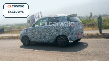 Mahindra S101 (Mahindra XUV100) snapped on Pune highway - Spied