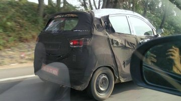 Mahindra S101 (XUV100) prototype snapped again - Spied