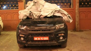 Maruti YBA sub-4m SUV snapped in production avatar, gets projector headlights - Spied