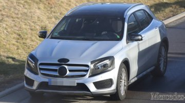 Mercedes GLA facelift with AMG kit spotted nearly undisguised - Spied