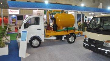 Tata Ace Desilting Machine, Ace Zip Hopper Tipper showcased at Municipalika 2015 - IAB Report