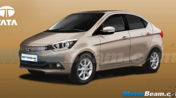 Tata Zica-based compact sedan - Rendering