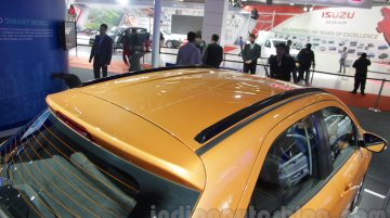 Ford Figo with roof rails and Ford Figo Aspire - Auto Expo 2016