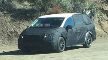 2017 Honda Odyssey spotted testing in California - Spied