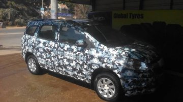 Chevrolet Spin snapped inside-out ahead of Auto Expo showcase - Spied