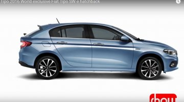 Fiat Tipo hatchback side profile - Rendering