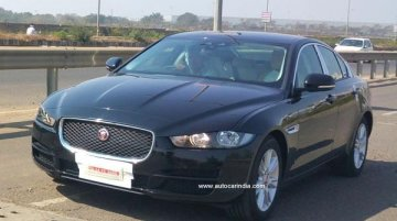 Jaguar XE snapped on Indian roads ahead of Auto Expo launch - Spied