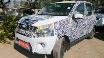 Camouflaged Mahindra Quanto facelift - Spied