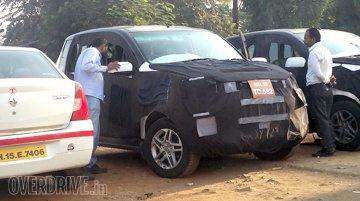 Mahindra Quanto facelift (Mahindra Canto/Mahindra Cresto) snapped near Mumbai - Spied