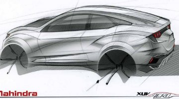 Mahindra XUV Aero coupe-SUV concept design sketch released for Auto Expo - Report