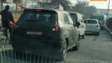 Maruti Vitara Brezza snapped up close - Spied