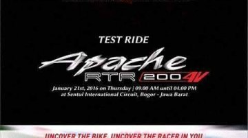 TVS Apache RTR 200 4V is the name of the new Apache - IAB Report