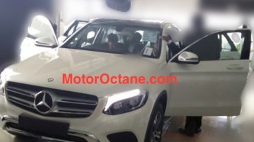 Mercedes GLC spotted at an Indian dealership
