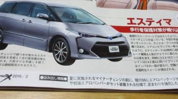 New Toyota Previa rendered in magazine - Rendering