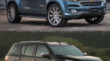 Chevrolet Trailblazer Premier (facelift) vs older model - Old vs New