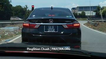 Honda City Hybrid spotted in Malaysia