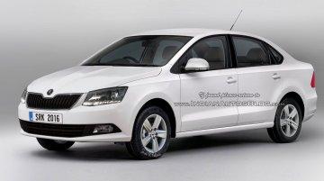 Skoda Rapid facelift – Rendering
