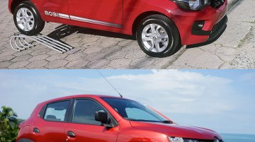 Renault Kwid vs Fiat Mobi - In Images