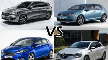 Fiat Tipo vs. VW Golf vs. Ford Focus vs. Renault Megane – Comparo