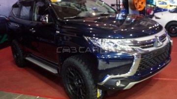 2016 Mitsubishi Pajero Sport showcased with accessories at MIAS