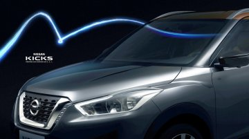 Production-spec Nissan Kicks compact SUV's front fascia revealed