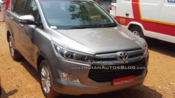 Toyota Innova Crysta spied ahead of launch