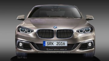 BMW 1 Series Sedan rendered based on leaked patents