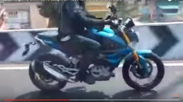 BMW G310R spotted in India completely undisguised