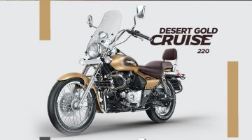 Bajaj Avenger Cruise 220 launched in Desert Gold colour