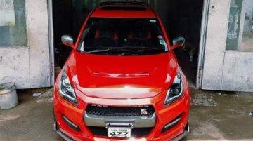 This custom Maruti Swift thinks it's a Nissan GT-R