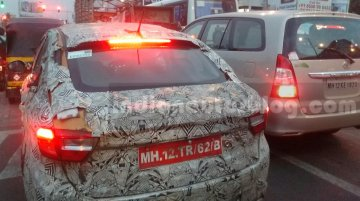 IAB reader spies the Tata Kite 5 compact sedan in Sunburst Orange