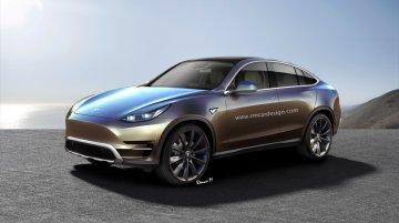 Tesla Model Y crossover - Rendering