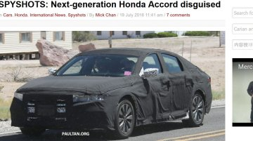 Next-generation Honda Accord starts testing