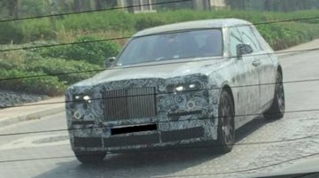 2018 Rolls Royce Phantom spied in production body