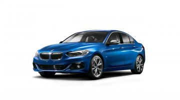 Production BMW 1 Series sedan revealed