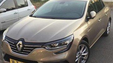 India-bound Renault Megane sedan spied in public