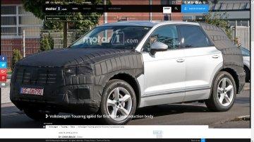 Next-gen VW Touareg starts testing