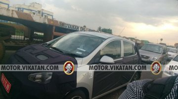 Hyundai Grand i10 facelift spied testing in India for the first time
