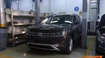 VW Teramont SUV spied inside and out sans camouflage