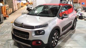 2017 Citroen C3 spotted at the Paris Motor Show floor