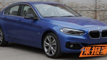 BMW 1 Series sedan photographed in all angles in China