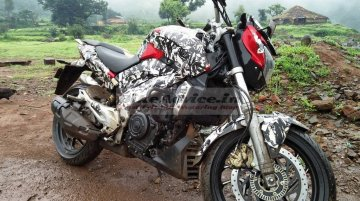 Red Bajaj VS400 spotted, reveals all its features